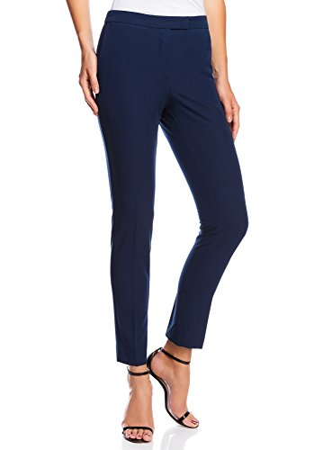oodji Collection Donna Pantaloni Classici Stretti, Blu, IT 46 / EU 42 / L