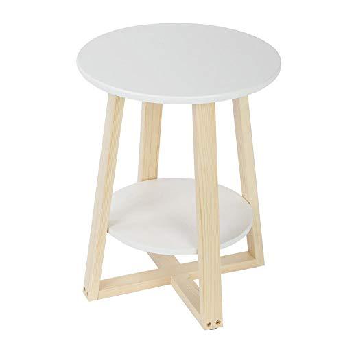 EBTOOLS Tavolino Rotondo da Salotto,Tavolino Moderno per Soggiorno,Tavolino  da caffè con 2 Ripiani, Tavolino per Tazze del caffè ...