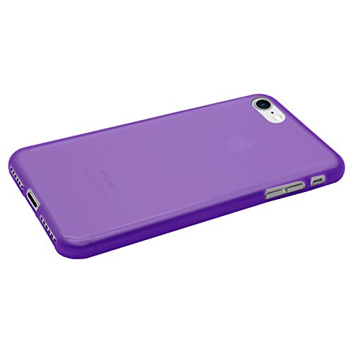 Coque Ultra Fine en Gel Flex TPU pour Apple iPhone 7 - Collection Transparent Mat - Vert - par PrimaCase Violet