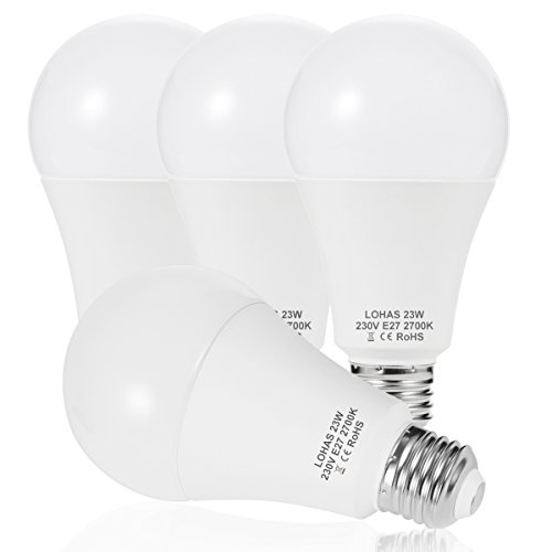 23 W (200 W) Bombilla LED E27, LOHAS No-Regulable rosca Edison bombillas...