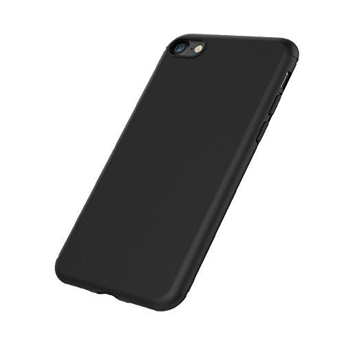 iPhone 7 Coque de Protection, EasyAcc Etui Antidérapant Pour iPhone 7 Smartphone TPU Noir Coque de protection Housse légère profil en finition aphotique Pour iPhone 7
