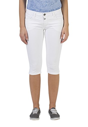 Timezone Damen Slim SalomeTZ Shorts, Weiß (Pure White 0100), W25