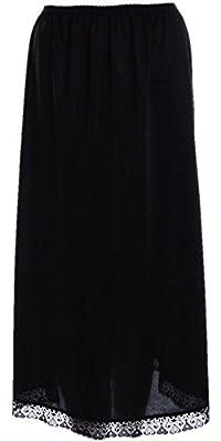 Premium Anti Static Long Length 32 inch Maxi Half Slip Underskirt Black or White