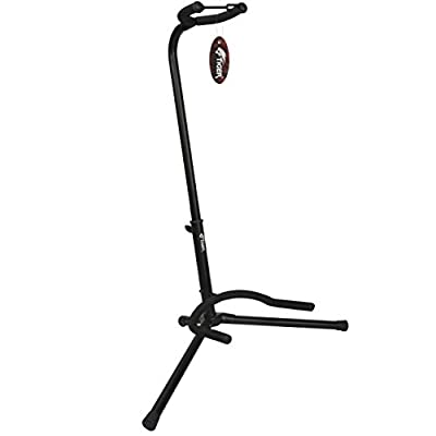Tiger GST14-BK Folding Tripod Guitar Stand for Acoustic, Bass, Classical and Electric Guitars - Black