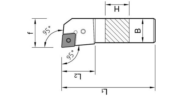 AKKO Drehhalter PCLNL 25x25 mm Klemmhalter 10 Wendeplatten CNMG 12 NEU in OVP