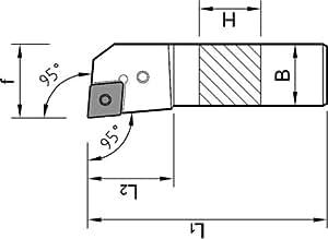 1pièce ISO Support de serrage 25x 25pclnr 2525M12drehstahl droit pour plaques réversible cnmg 1204...