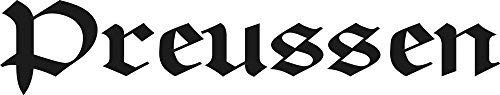 Aufkleber Applikation - Preussen - AP4033 - versch. Größen Color schwarz, Größe 30cm