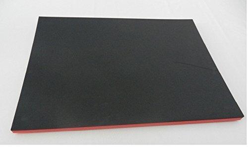 Herramientas rígida vitrina mstoff Sistema Alfombrilla de espuma Entretela para carro de herramientas 500x 600x 35mm, Negro/Rojo, calidad industrial