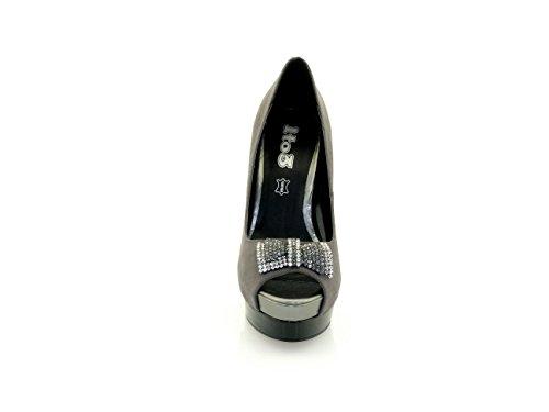 1TO3 - Chaussures pointe découvertes ornées gray