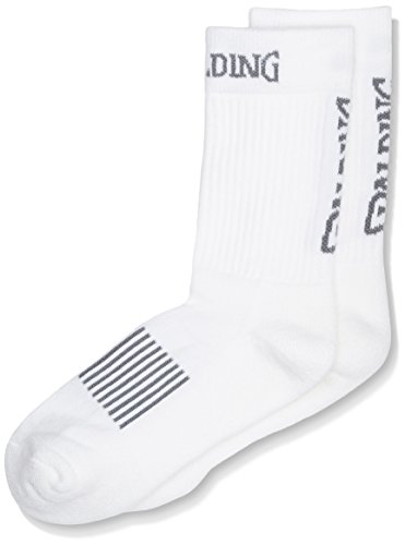 Spalding Herren Coloured Socken, Weiß/Silber Grau, 41-45 (Herren-basketball Silber -)