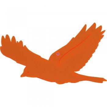 CIM Lichtfänger - SunDancer Fensterdeko Vogel orange 1 - wetterfest, lichtreflektierend - Abmessung: 23x16cm - inkl. Saugnapf (Vogel orange 1)