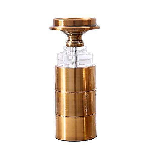 Chandeliers Bougeoir Bougeoir de ménage, base dorée en cristal romantique de chandelier, présentoir de décoration de dîner aux chandelles pour couples (taille : L)