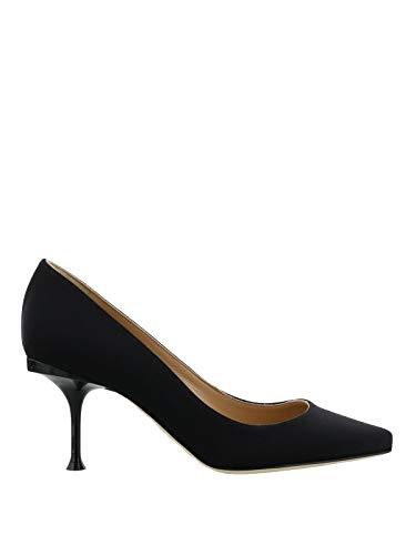 Sergio Rossi Femme A81750MTE1341000 Noir Coton Escarpins