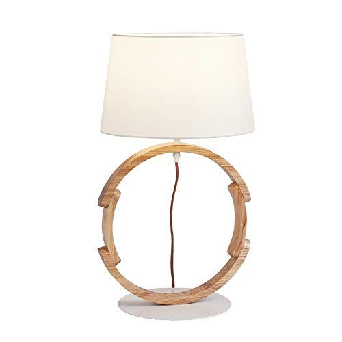 HOYSGS LED en Bois Massif Art Lampes De Table Chambre Table De Chevet De La Table Lumières Éclairage Salon Lumières De Bureau Luminaires De Décoration, Blanc