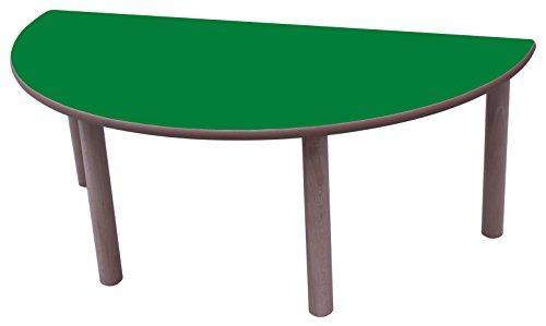 Mobeduc Table Ronde enfant-120 cm 120 cm, Talla 3 Haya y Verde Oscuro