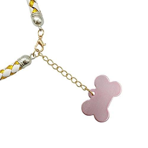 Weihnachten glückliches Geschenk Hundehalsband Halskette mit Glöckchen für Kleine Hunde Welpen Katzen Silberfarbe S - 4