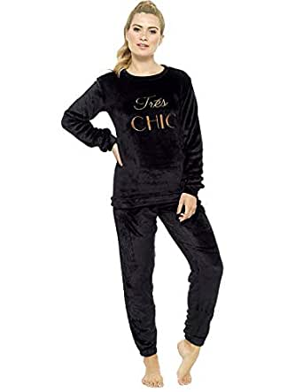 09b169912b68 Ladies Pyjamas Set Womens Loungewear Pyjamas for Women Comfy Warm Soft  Womans Lounge Wear Pjs Sets