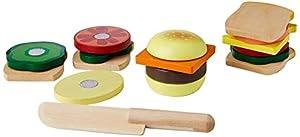 Melissa & Doug - Juego de madera para hacer sándwiches (10513) , Modelos/colores Surtidos, 1 Unidad