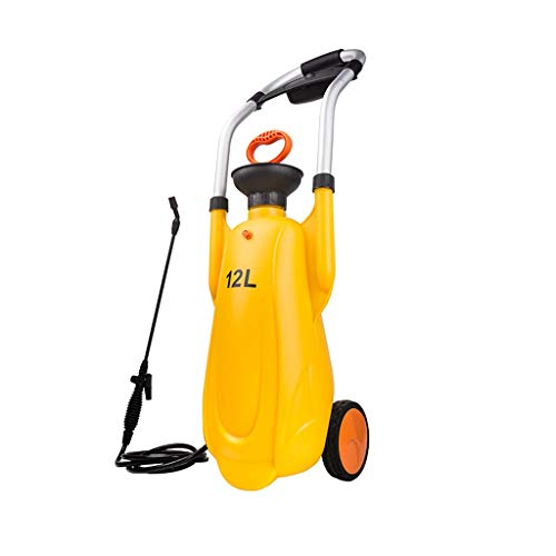 Zoe home 12L Trolley Sprayer Flasche Blume Gießkanne Mobile Desinfektion Spray Plastikflasche Patio Rasen Gartengerät Garten Gießkanne (Color : Yellow)