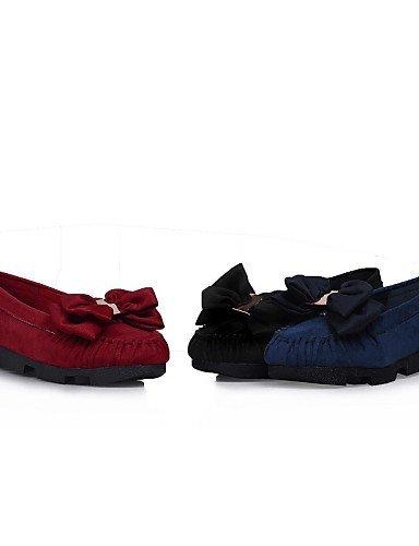ShangYi Scarpe Donna - Mocassini - Casual - Punta arrotondata - Piatto - Finto camoscio - Nero / Blu / Rosso Black