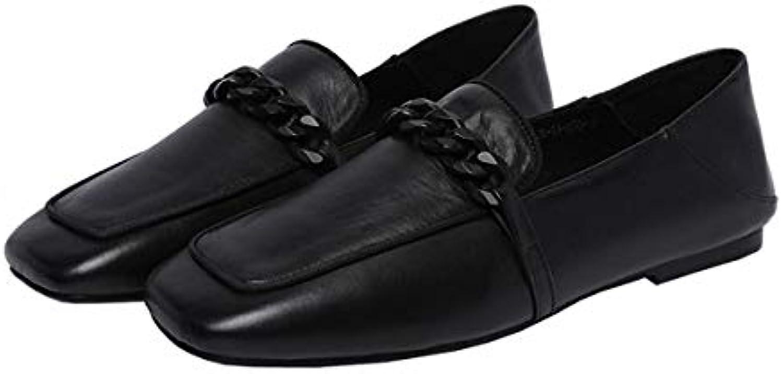 KOKQSX-Fond Plat Petite Bouche Pois Chaussures Mode Occasionnels des pour Souliers en Cuir pour des Femmes.B07HM64ZWRParent 2b5ec5