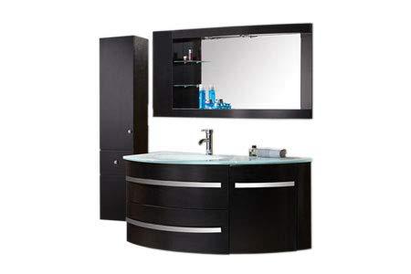 Grafica ma.ro srl mobile bagno arredo bagno completo 120 cm lavabo rubinetto incluso black ambassador