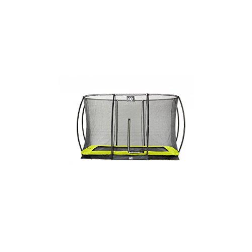 EXIT Trampolin Silhouette Ground Rechteckig + Sicherheitsnetz 214 x 305 cm grün 12.94.70.40