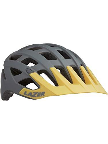 Lazer Matt Grau Gelb Roller MTB Helm (Medium, Grau)