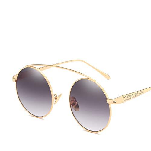 Wenkang Round Sunglasses Women Designer Fashion Rhinestone Sun Glasses Vintage Metal Eyewear Male Eyewear,3
