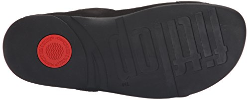 FitFlop Gogh Tm Moc Slide Adjustable, Tongs Homme Noir (Nero)