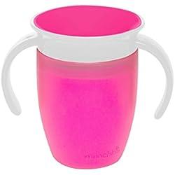 Munchkin Miracle 360° - Vaso antiderrames entrenamiento 207 ml (rosa)