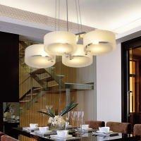 ALFRED® Lampadario moderno in acrilico in cromo con 4 lampadine, Flush Mount per studio / ufficio, camera da letto, Soggiorno (con finitura cromata)