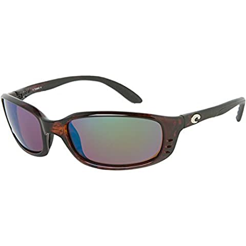 Costa Brine Polarized Sunglasses - Costa 580 Glass Lens Tortoise/Green Mirror, One Size