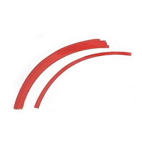 """sourcingmap® 16 Pcs voiture pneu roue jante rouge décalque décoratif autocollant 12.5"""" longueur"""