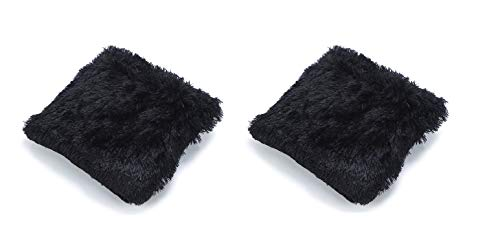 Amazinggirl Kissenbezug flauschig schwarz Set Dekokissen - Deco Kissen Sofakissen Kuschelkissen Bezug