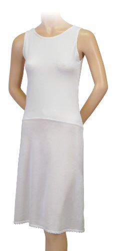 Gemsli Damen Unterkleid 37 inches White
