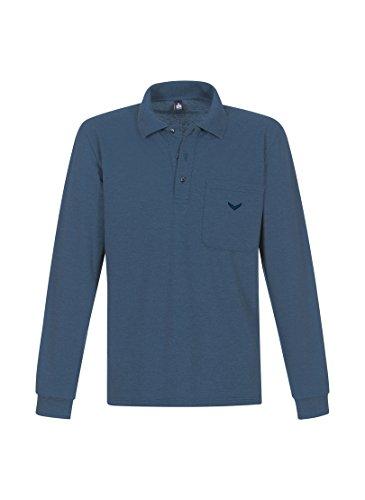 Trigema Trigema Damen Langarm Polo-shirt - T-shirt - Femme nightblue-melange