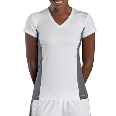 Hanes - Women's Tagless V-Neck T Contrast Sports - Auslaufmodell!!