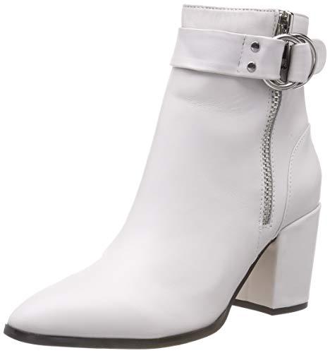 Steve Madden Damen Johannah Ankleboot Stiefeletten, Weiß (White Leather 107), 37 EU