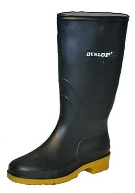 Dunlop Heava 'DULL' Youths wellingtons BLACK size 1 UK