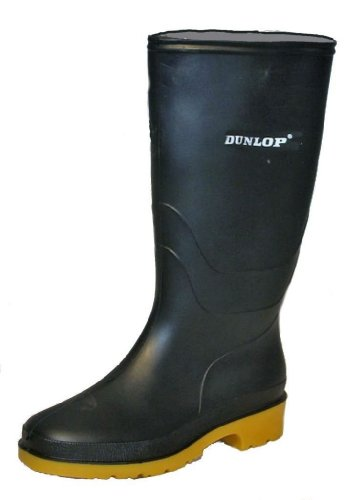 Dunlop Heava 'DULL' Youths wellingtons BLACK size 6 UK