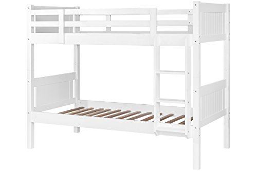 Quality White Solid Wooden Kids Bunk Beds Splits into 2 Single Beds by Sleep Design