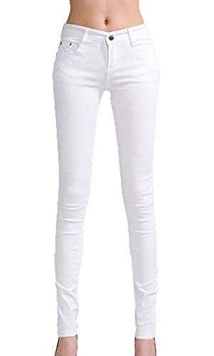 Vanilla Inc Damen Jeanshose schwarz * Einheitsgröße Weiß