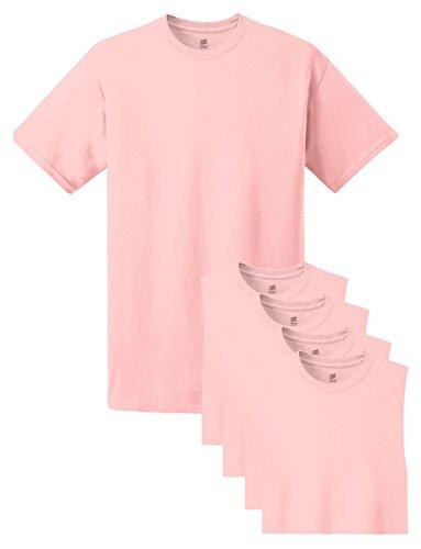 Hanes Men's Tagless Comfortsoft Crewneck T-shirt (Pack of 5) Pale Pink