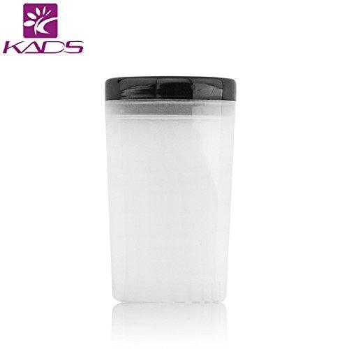 Kads Nail Art Brosse Aspirateur support UV acrylique Pot plastique Stylo à encre gel nettoyant Tasse Bouteille brosses outils de support