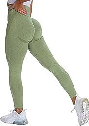 Peer Women's High Waist Contour Seamless Workout sport Leggings Yoga Pants Non See Through Tights Tummy Co