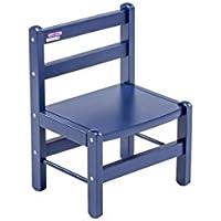 Chaise basse laqué bleu - Combelle