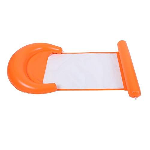 LXQ Wassernet-Lecliner/schwimmendes Bett-Sofa aufblasbar/Wasserbett-Hängematte schwimmendes Bett faltbares Dual-Use-Rückenpool Erwachsene und Kinder Luftkissen/Freibad Schwimmen notwendig