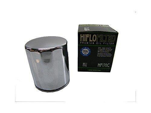 Ölfilter Hiflo verchromt HF170C für Harley Davidson