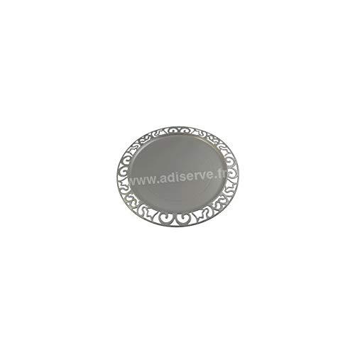 Adiserve sous-Assiette Ronde 30 cm Argent par 4
